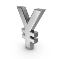 Japanese Yen Currency Symbol Silver PNG & PSD Images