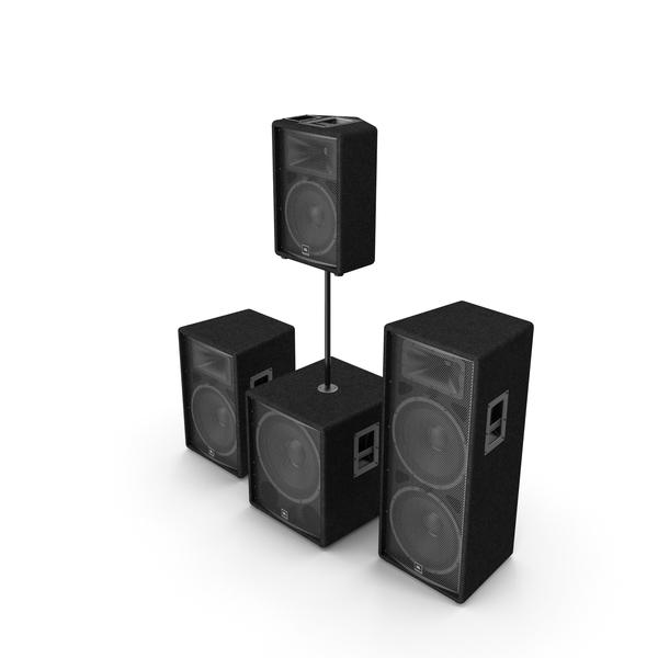 JBL JRX Speaker System PNG & PSD Images