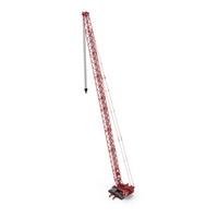 Liebherr Crawler Crane LR 1600/2 S96m Red PNG & PSD Images