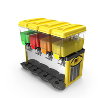 Juice Cold Dispenser Machine 4 Jars PNG & PSD Images