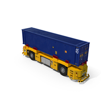 Kalmar AGV with 40ft ISO Container PNG & PSD Images