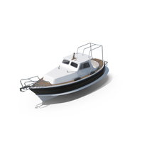 Traditional Small Sea Motor Boat PNG & PSD Images