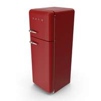 SMEG FAB30 50's Style Refrigerator PNG & PSD Images