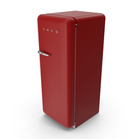 SMEG FAB28 50's Style Refrigerator PNG & PSD Images