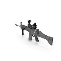 Combat Assault Rifle FN SCAR L PNG & PSD Images