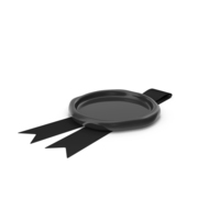Black Ribbon with Wax Stamp PNG & PSD Images