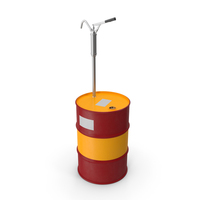 Lever Hand Pump with Oil Drum PNG & PSD Images