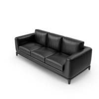 Sofa Black Leather PNG & PSD Images