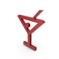 Bar Glass Symbol Red PNG & PSD Images
