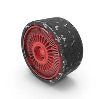 Round Sci-Fi Ventilation Unit Worn PNG & PSD Images