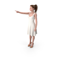 Woman Showing Finger PNG & PSD Images