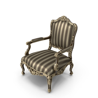 Louis XV Armchair PNG & PSD Images