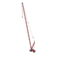 Liebherr LR 1600 2 HSDB 144m Red With White Cabin PNG & PSD Images