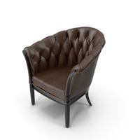 Butonned Armchair PNG & PSD Images
