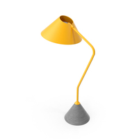 FLAMINGO Modern Yellow Table Lamp PNG & PSD Images