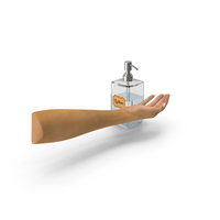 Lotion Dispenser with Female Hand pc PNG & PSD Images