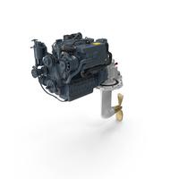 Marine Diesel Saildrive Engine Generic PNG & PSD Images