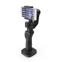 3 Axis Gimbal Stabilizer with Mobile Generic PNG & PSD Images
