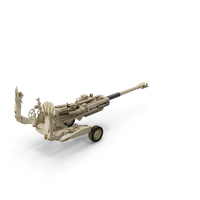 155mm M777 Howitzer Desert Towing Position PNG & PSD Images