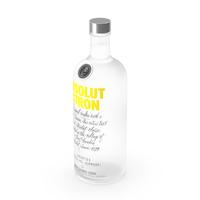 Absolut Citron Lemon Flavoured Vodka PNG & PSD Images