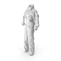 Women's Winter Sport Coverall White PNG & PSD Images