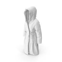 Women's Down Coat White PNG & PSD Images
