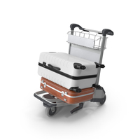 Airport Trolley with Suitcases PNG & PSD Images