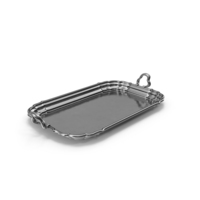 Antique Serving Silver Tray PNG & PSD Images