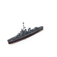 USS Fletcher Class Destroyer 1942 PNG & PSD Images
