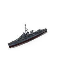 USS Melvin DD-680 Fletcher Class Destroyer PNG & PSD Images
