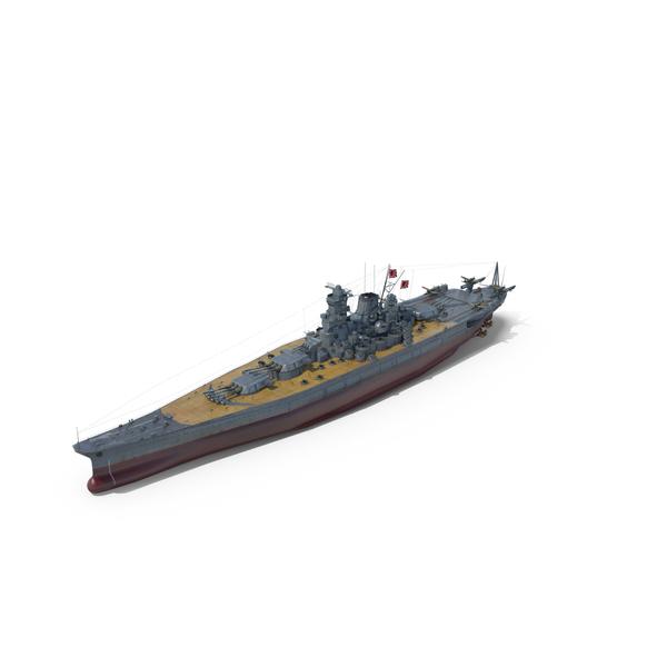 Japanese Battleship MUSASHI PNG & PSD Images