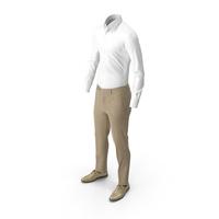 Men's Pants Shirt Shoes Beige PNG & PSD Images