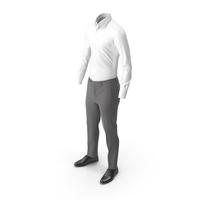 Men's Pants Shirt Shoes Grey PNG & PSD Images