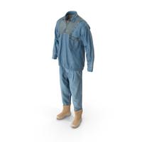 Men's Jeans Pullover Boots T-shirt Beige Blue PNG & PSD Images