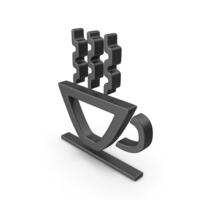 Hot Cup Symbol Black PNG & PSD Images