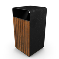 Trash Bin (Game Ready) PNG & PSD Images