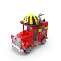 Kiddie Ride Fire Truck PNG & PSD Images