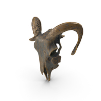Ram Skull Statue Old Gold PNG & PSD Images