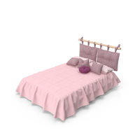Bed With Pillows PNG & PSD Images