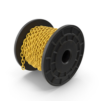 Plastic Black Bobbin Rubberised Yellow Chain PNG & PSD Images
