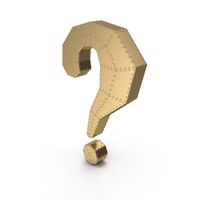 Question Mark Gold With Rivets PNG & PSD Images