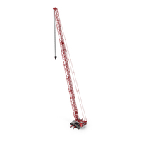 Liebherr LR 1600 2 SL 102m Red With White Cabin PNG & PSD Images