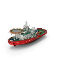 Asymmetric Icebreaker Baltika Oblique PNG & PSD Images