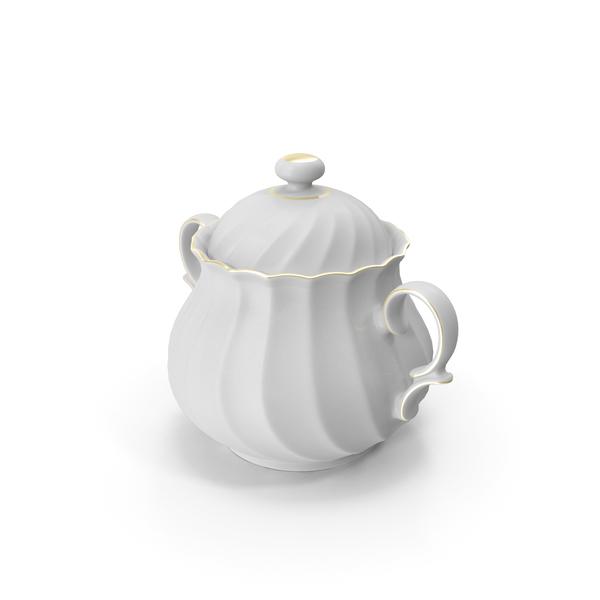 Porcelain Sugar Pot PNG & PSD Images