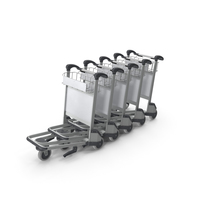 Baggage Airport Trolleys PNG & PSD Images