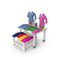 Womens Long Sleeved Shirt Display Tables PNG & PSD Images