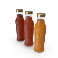 Barbecue Sauces Bottles PNG & PSD Images