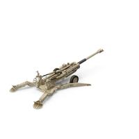 Battle Position Howitzer M777 155mm Desert PNG & PSD Images