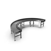 Bend Roller Conveyor Motorised PNG & PSD Images