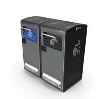 Bigbelly General Waste and Recycling Station PNG & PSD Images